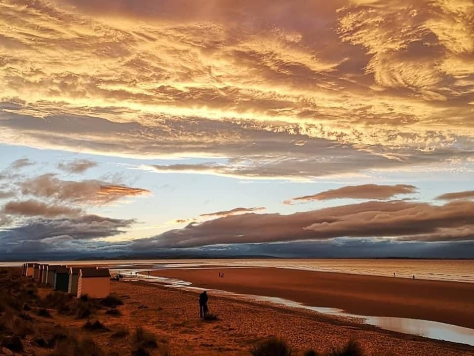Findhorn Beach at Sunset