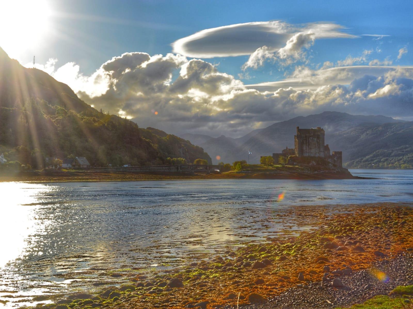 Ray of Sunshine on Eilean Donnan Castle